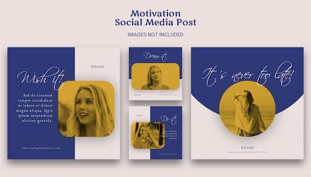 Modelo de postagem de mídia social motivacional