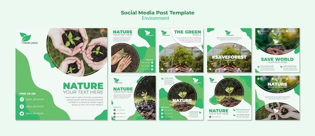 Modelo de postagem de mídia social orgânica
