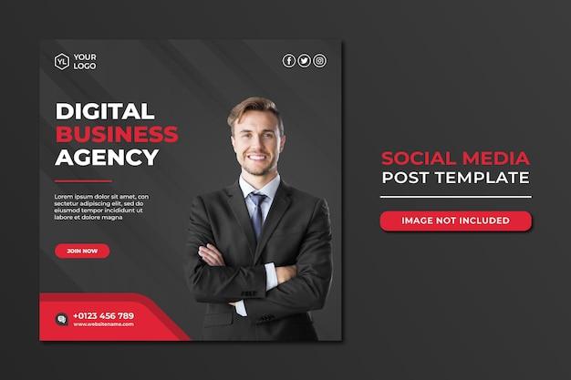 Modelo de postagem de mídia social para agência de marketing digital profissional