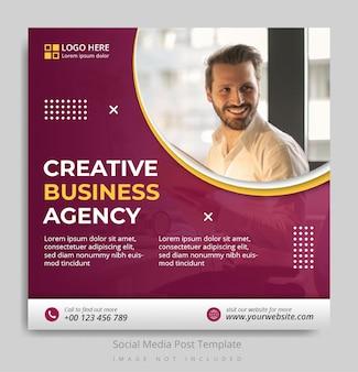 Modelo de postagem de mídia social para agência de negócios criativos