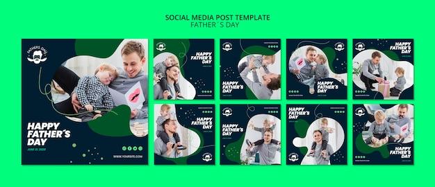 Modelo de postagem de mídia social para evento do dia dos pais