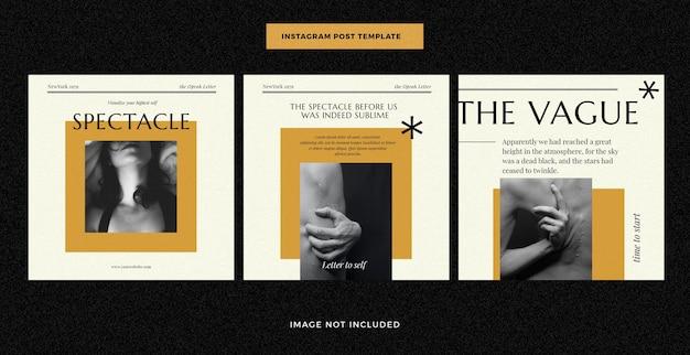 Modelo de postagem de mídia social para revista editorial