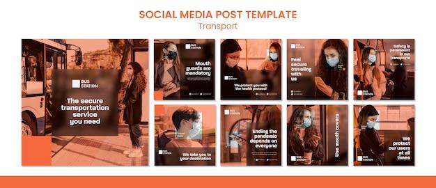 Modelo de postagem de mídia social segura para viagens