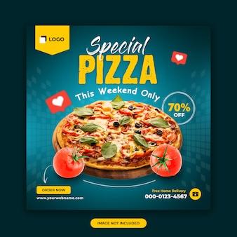 Modelo de postagem de mídias sociais de alimentos e restaurantes