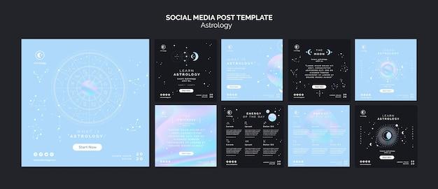 Modelo de postagem de mídias sociais de astrologia