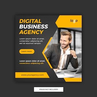Modelo de postagem de mídias sociais de negócios digitais
