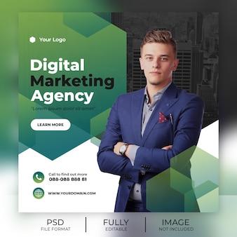 Modelo de postagem de mídias sociais de negócios