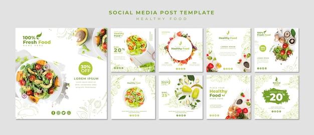 Modelo de postagem de mídias sociais de restaurante