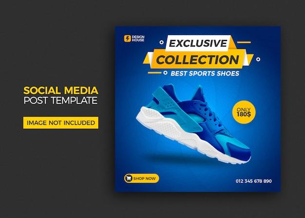Modelo de postagem de mídias sociais de venda de sapatos