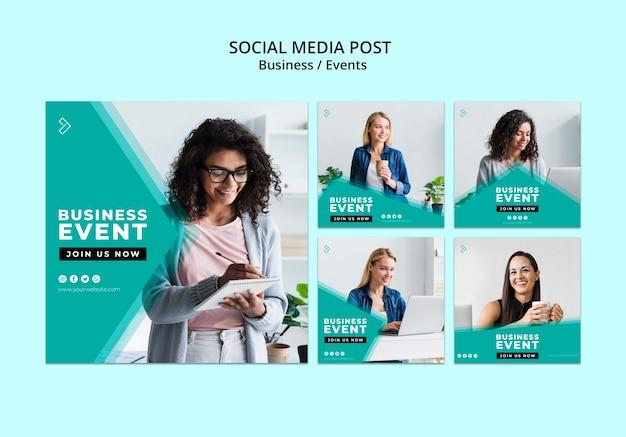 Modelo de postagem de negócios de mídia social