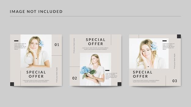 Modelo de postagem de oferta especial em mídia social