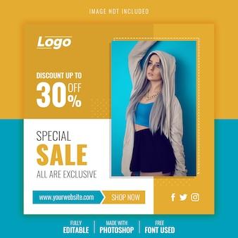 Modelo de postagem de venda especial