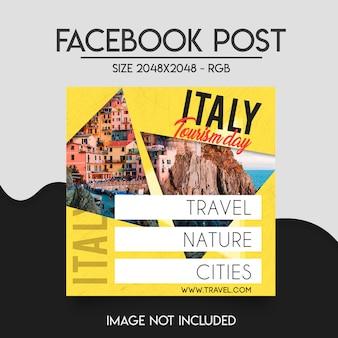 Modelo de postagem do facebook