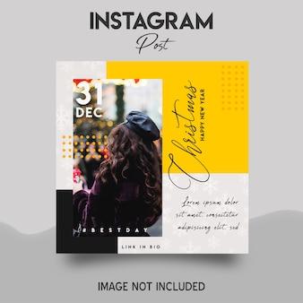 Modelo de postagem do feliz natal no instagram