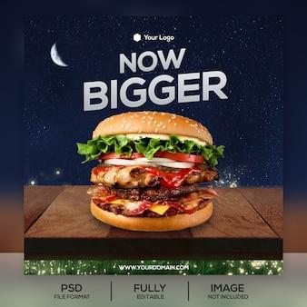 Modelo de postagem do instagram burger