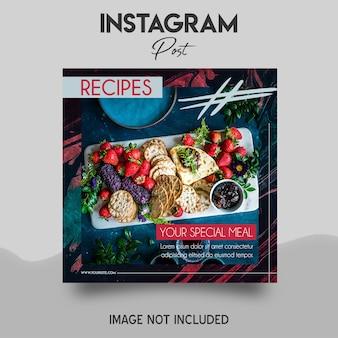 Modelo de postagem do instagram de comida
