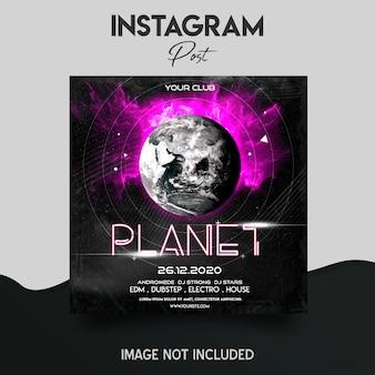 Modelo de postagem do instagram de festa de música