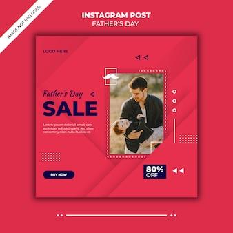 Modelo de postagem do instagram do dia dos pais