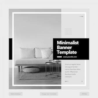 Modelo de postagem do instagram multiuso preto e branco