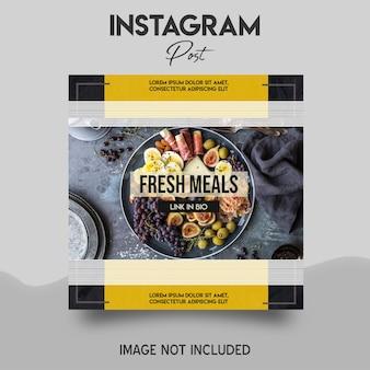Modelo de postagem do instagram para refeições frescas