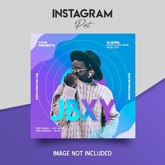 Modelo de postagem do instagram