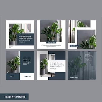 Modelo de postagem do minimalismo no instagram