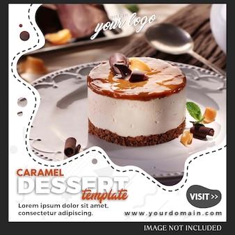 Modelo de postagem em comida e bebida para instagram