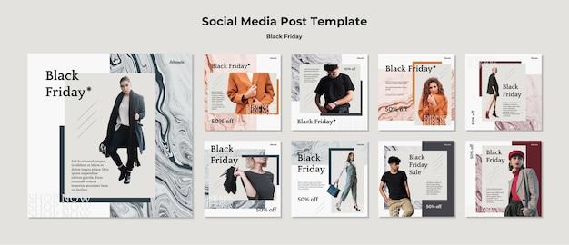 Modelo de postagem em mídia social da black friday