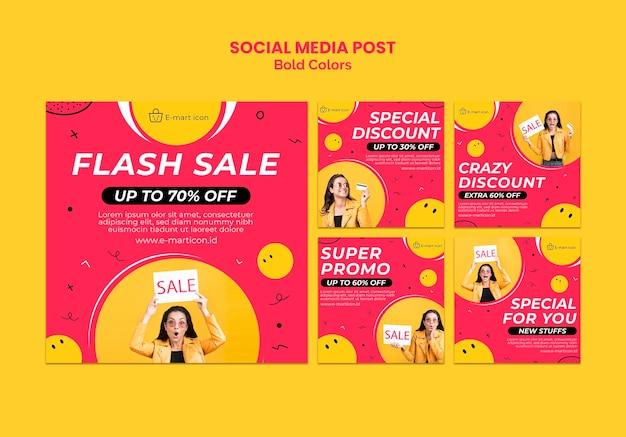 Modelo de postagem em mídia social de anúncio de venda
