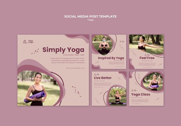Modelo de postagem em mídia social de aula de ioga