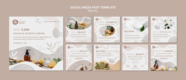 Modelo de postagem em mídia social de beleza