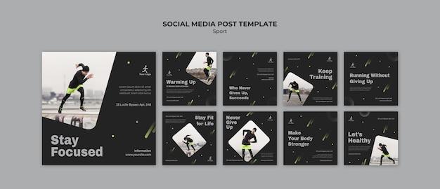 Modelo de postagem em mídia social de treinamento físico