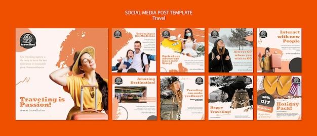 Modelo de postagem em mídia social para a temporada de férias