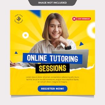 Modelo de postagem em mídia social para tutoria online