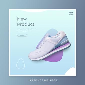 Modelo de postagem em mídias sociais de sapatos