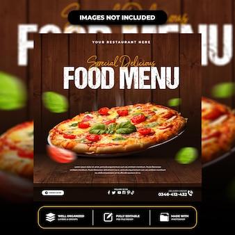 Modelo de postagem especial de pizza deliciosa em mídia social