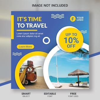 Modelo de postagem - instagram de turismo de viagem