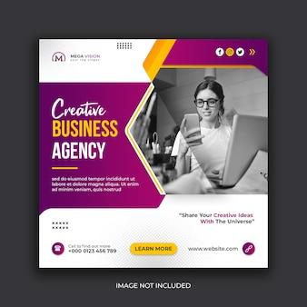 Modelo de postagem instagram para agência de negócios criativos