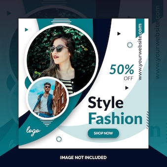 Modelo de postagem - instagram social media