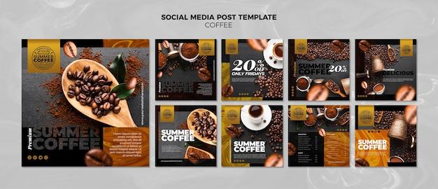 Modelo de postagem - mídia social de cafeteria