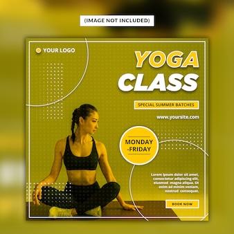Modelo de postagem - mídia social de ioga