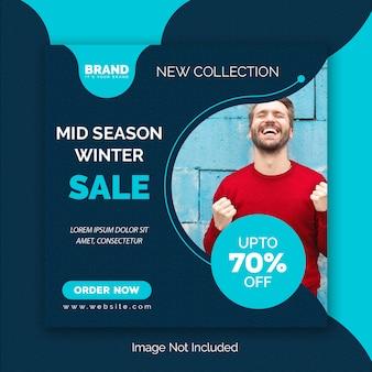 Modelo de postagem - mídia social de venda de inverno