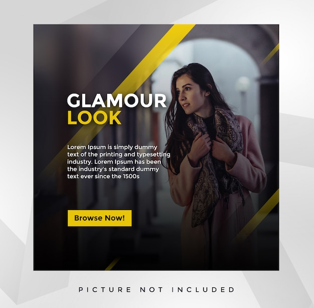 Modelo de postagem - mídia social glamour