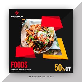 Modelo de postagem na web de alimentos
