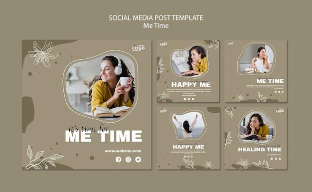 Modelo de postagem nas redes sociais para mim