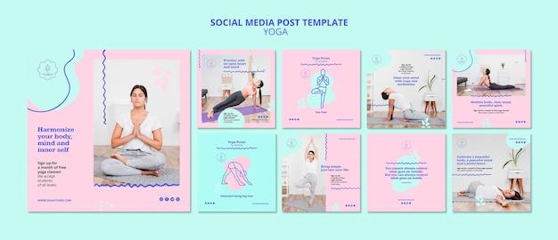 Modelo de postagem no instagram de anúncio de ioga