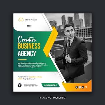 Modelo de postagem no instagram para agências de negócios criativos