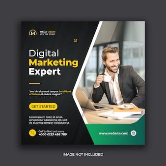 Modelo de postagem no instagram para banner de mídia social corporativa de marketing digital