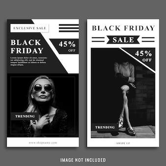 Modelo de postagem preta no instagram de sexta-feira