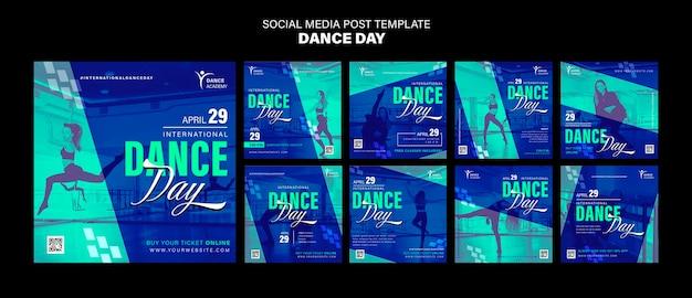 Modelo de postagens do instagram para o dia da dança